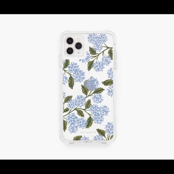 Rifle Paper Co. Clear Hydrangea Blue iPhone Case
